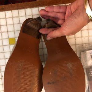 Zara metallic leather slides